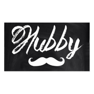 modern newly wed honeymoon groom mustache hubby Double-Sided standard business cards (Pack of 100)