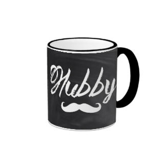 modern newlywed groom Mustache hubby Coffee Mugs