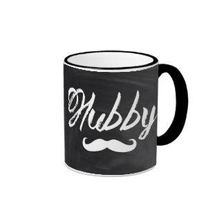 modern newlywed groom Mustache hubby Ringer Coffee Mug
