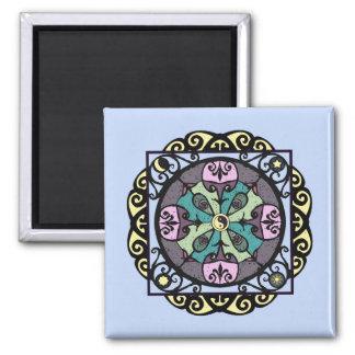 Modern Nouveau Garden Gate Mandala Magnet