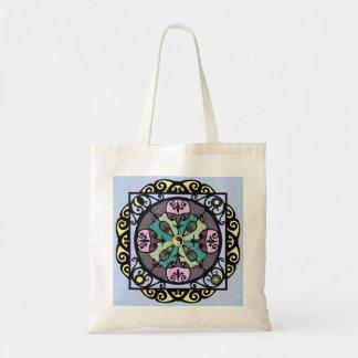 Modern Nouveau Garden Gate Mandala Tote Bag