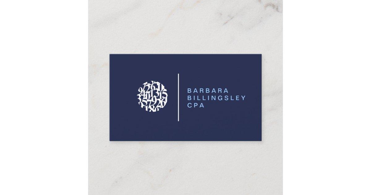 Modern Numbers Logo II Accountant Business Card | Zazzle.com