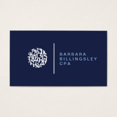Modern Numbers Logo Ii Accountant Business Card at Zazzle