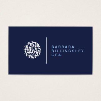 Modern Numbers Logo II Accountant Business Card