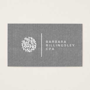 Numbered business cards templates zazzle modern numbers logo linen accountant business card colourmoves
