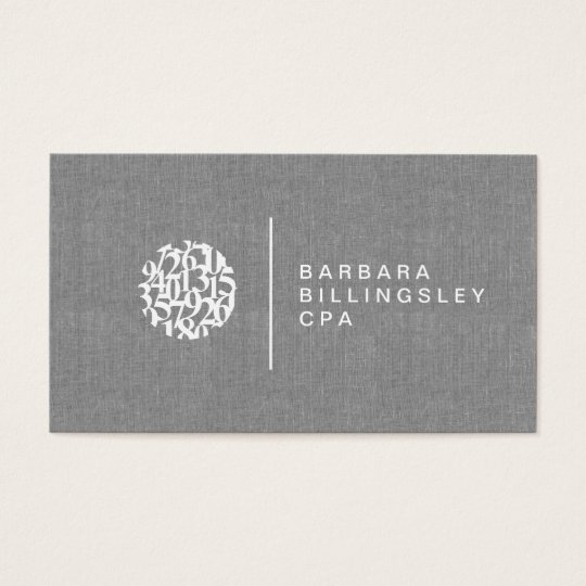 Modern numbers logo linen accountant business card zazzle modern numbers logo linen accountant business card reheart Gallery