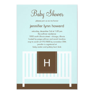 Modern Nursery Baby Shower Invitation (Blue)