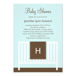 "Modern Nursery Baby Shower Invitation (Blue) 5"" X 7"" Invitation Card"