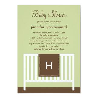 "Modern Nursery Baby Shower Invitation (Neutral) 5"" X 7"" Invitation Card"