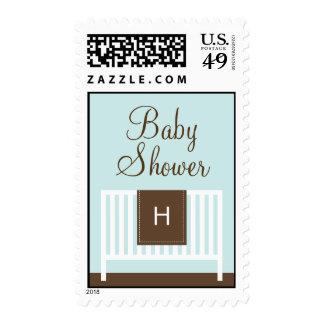 Modern Nursery Baby Shower Postage (Green)