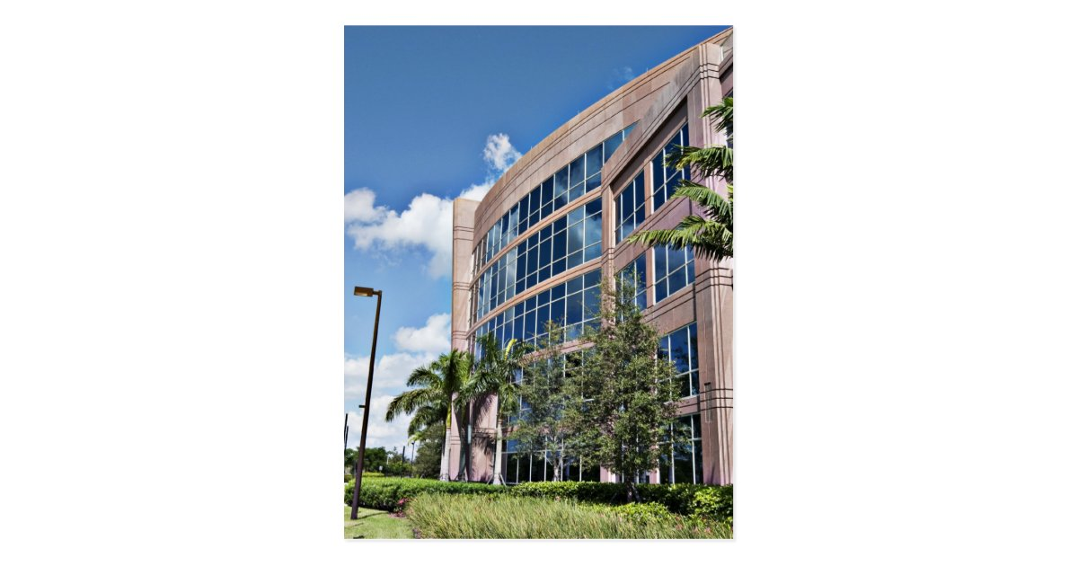 Modern office building architecture postcard zazzle for 4 1 architecture view
