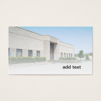 modern office building business card