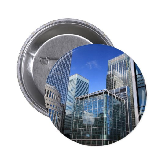 Modern Office Buildings Pinback Button