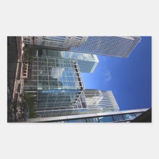 Modern Office Buildings Rectangular Sticker