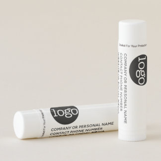 Modern Office Business Logo with 3 lines of Text Lip Balm