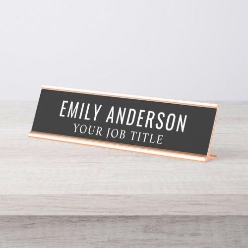 Modern Office Employee Desk Name Plate