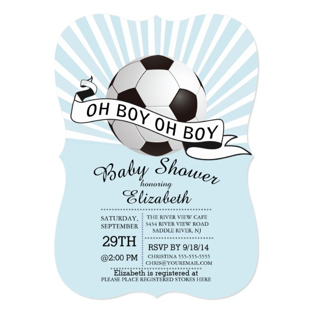 Oh boy soccer boys baby shower invitation modern oh boy soccer boys baby shower invitation filmwisefo Choice Image