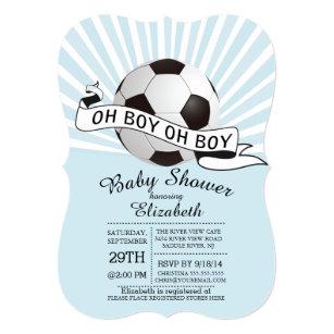Oh boy invitations announcements zazzle modern oh boy soccer boys baby shower invitation filmwisefo