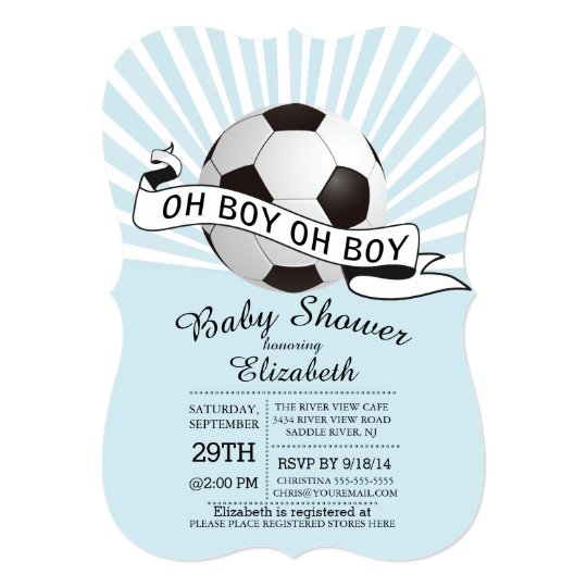 Modern oh boy soccer boys baby shower invitation zazzle modern oh boy soccer boys baby shower invitation filmwisefo