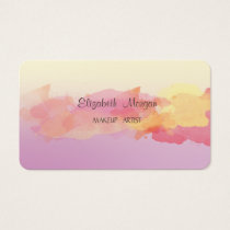 Modern Ombre,Watercolor Brush Stroke Business Card