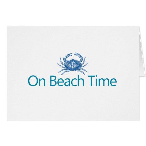 "Modern ""On Beach Time"" Cards"