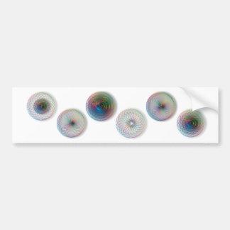 Modern Optical Art Circles Car Bumper Sticker