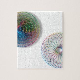Modern Optical Art Circles Jigsaw Puzzle