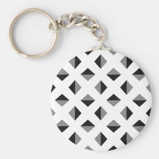 Modern Optical Illusion Pattern Keychain