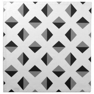 Modern Optical Illusion Pattern Napkin