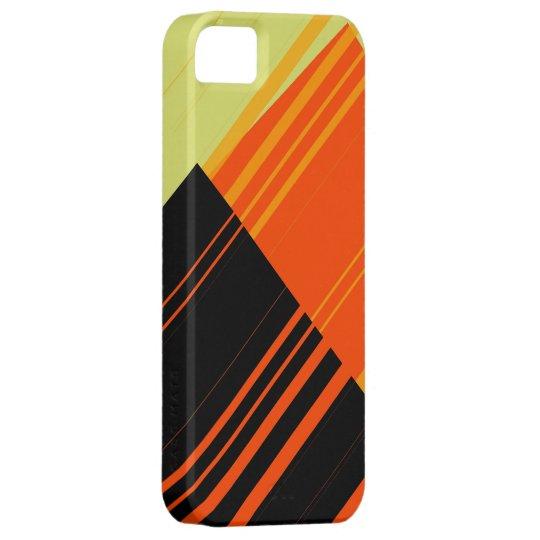 Modern orange and black stripes graphic 2 iPhone SE/5/5s case