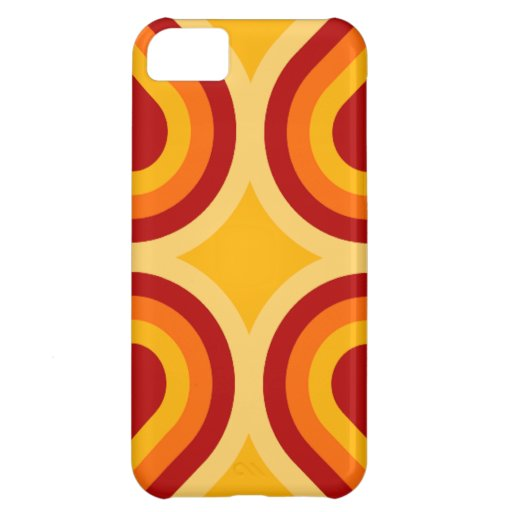 Modern Orange and Rust iPhone 5 Case