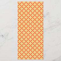 Modern Orange and Yellow Circle Polka Dots Pattern