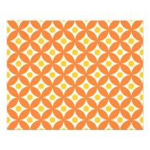 Modern Orange and Yellow Circle Polka Dots Pattern Flyer