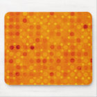 Modern Orange and Yellow Polka Dots Mouse Pad