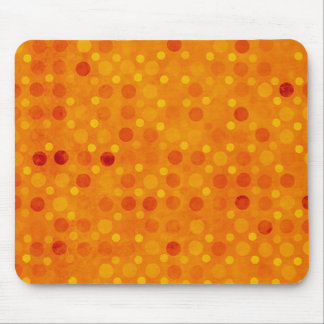 Modern Orange and Yellow Polka Dots Mouse Pad