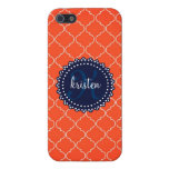 Modern Orange Bristol Tiles Personalized Trendy Case For iPhone 5