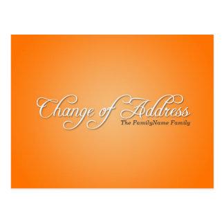 Modern Orange Change of Address Postcard