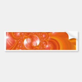 Modern orange created by Tutti Bumper Sticker