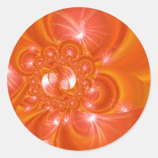 Modern orange created by Tutti Classic Round Sticker
