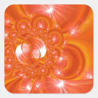 Modern orange created by Tutti Square Sticker