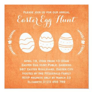 Modern Orange Easter Egg Hunt Party Card