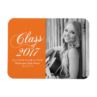 Modern Orange | Graduation Magnet