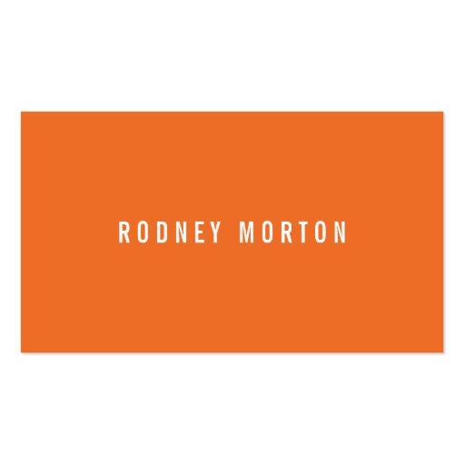 Modern orange gray simple generic professional business cards