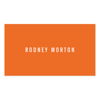 Modern orange gray simple generic professional Double-Sided standard business cards (Pack of 100)
