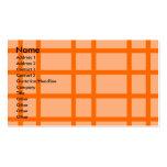 Modern orange grid pattern business card template
