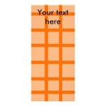 Modern orange grid pattern full color rack card
