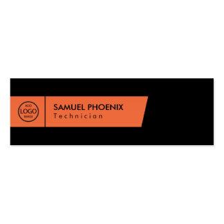 Modern | (Orange) Mini Business Card