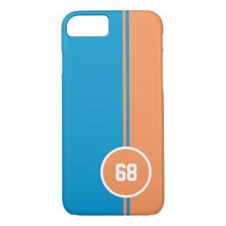 Modern orange round circle iPhone 7 case