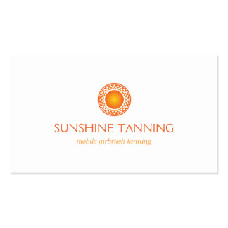 MODERN ORANGE SUN LOGO Double-Sided STANDARD BUSINESS CARDS (Pack OF 100)