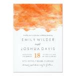 Modern Orange Watercolor   Wedding Invitation